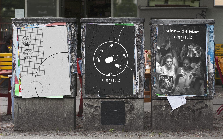 carteles calle Farmapills
